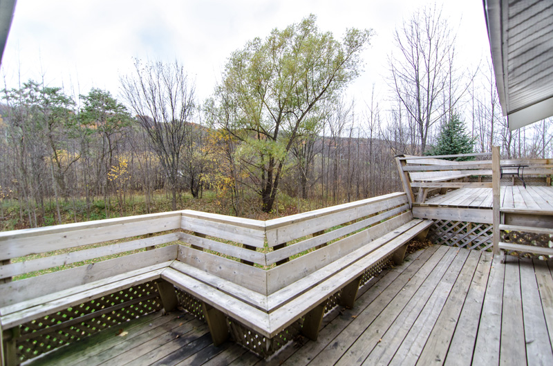 A beautiful patio is offered from Stay at Blue Mountain in this chalet located at Claire Glen