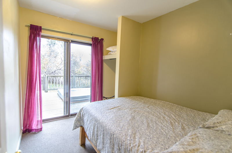 Stay at Blue Mountain offers tons of natural light in this upper-level bedroom in the Mountain View 1 location