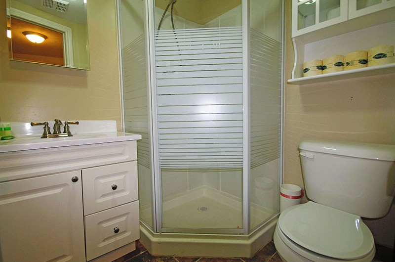 This three-piece bathroom from a Stay at Blue Mountain ski chalet located at 106 Birchview