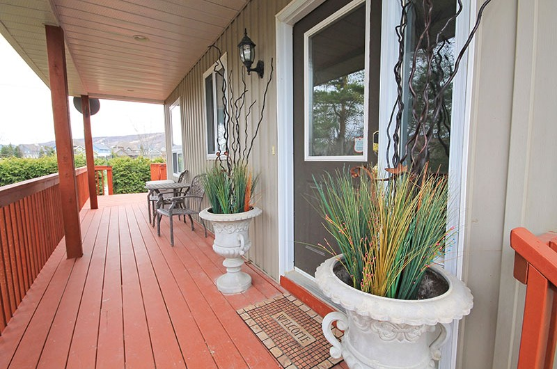 Entrance into the beautiful chalet located at 106 Birchview offered from Stay at Blue Mountain for rental