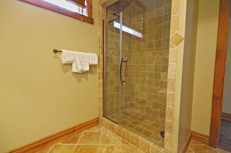 Stay at Blue Mountain offers impressive chalet bathrooms such as the one pictured here at 109 Plater St