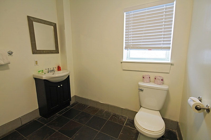 One of two bathrooms from a Stay at Blue Mountain ski chalet located at Mountain View 2